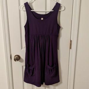 Purple tank dress